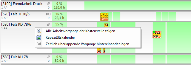 Plantafel Screenshot