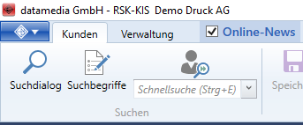 Verschiedene Suchmöglichkeiten in RSK-KIS