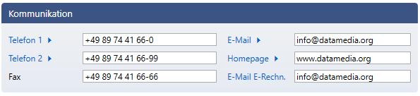 RSK-KIS E-Mail Feld für elektronische Rechnung